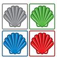 sea shell icons vector image vector image