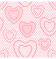 seamless lace pattern with hearts vintage textile vector image vector image
