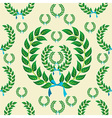 Seamless laurel wreath pattern vector image