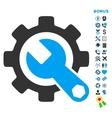 Service Tools Flat Icon with Bonus vector image vector image