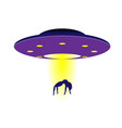 shameless purple ufo steals a girl vector image vector image