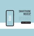 smartphone mock up banner flat smartphone blank vector image vector image