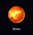 solar system object venus on vector image