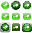Spa green app icons vector image vector image