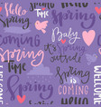 Spring time lettering text greeting card