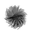 stroke spiral stamp vector image vector image