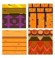 Textures for Platformers Icons Set with vector image vector image