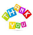 Thank You Paper Title in Colorful Squares Isolated vector image vector image