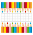 Two series of colorful pencils on squared vector image vector image