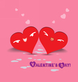 Valentine day couple hearts vector image vector image