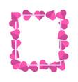 valentine s day white frame on pink framed paper vector image vector image