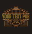 vintage pub logo layered vector image
