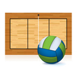 volleyball and court isolated on white vector image vector image