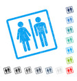 wc persons icon rubber watermark vector image vector image