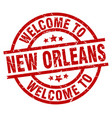 welcome to new orleans red stamp vector image vector image
