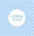 white dots on blue background label with shadow vector image vector image