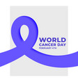 world cancer day february 4th concept poster vector image