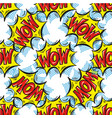 wow word multicolored comics speech bubbles vector image