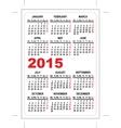 Pocket calendar 2015 vector image