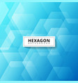abstract geometric hexagon overlapping layer on vector image vector image