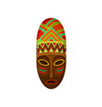 african ethnic tribal mask authentic symbol of vector image vector image