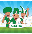 algeria football support vector image vector image