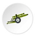 artillery gun icon circle