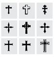black crosses icon set vector image vector image