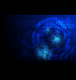 blue background eye technology vector image vector image