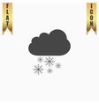 cloud and snowflakes vector image vector image