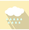 Cloud with drops ecology icon vector image