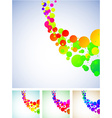 Colorful backgrounds vector image vector image