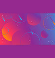 colorful geometric shapes composition on gradient vector image