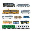 comfortable modern public transport big isolated vector image vector image