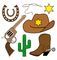 cowboy design elements vector image vector image