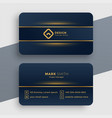Dark luxury golden business card template design