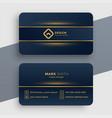 dark luxury golden business card template design vector image vector image
