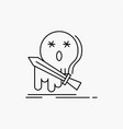 death frag game kill sword line icon isolated vector image vector image