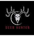 deer skull with target design template vector image vector image