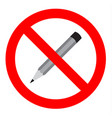 do not write sign vector image vector image