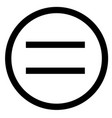 equal sign flat style equal icon isolated on vector image
