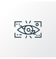eyetap augmentation icon line symbol premium vector image vector image