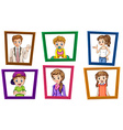 Family and frames vector image vector image