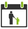 Father Calendar Day Flat Icon vector image vector image