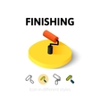 Finishing icon in different style vector image vector image