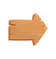 flat icon of brown wooden board in shape of vector image vector image