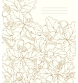 floral card hand drawn retro oak leaves and acorns vector image vector image