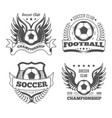 football and soccer isolated icons team logo or vector image vector image