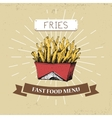 French fries fast food in vector image vector image