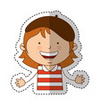 French little girl character vector image